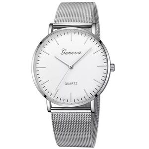 NEW Silver Lux Quartz Watch